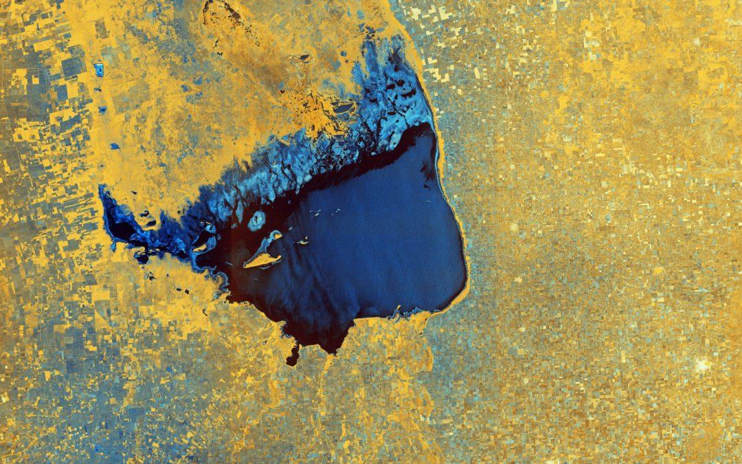 La foto della Settimana dall'Esa: il Mar Chiquita in giallo e blu