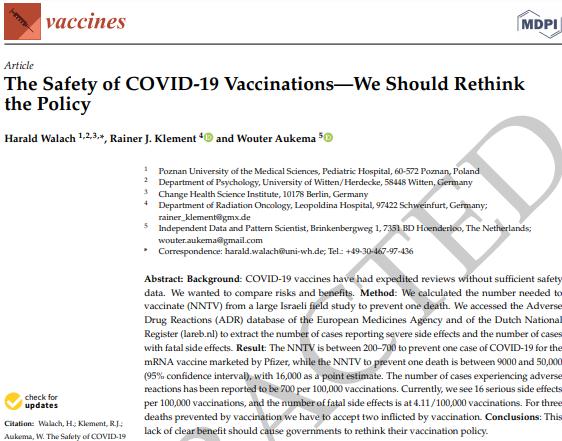 Dimissioni in massa da Vaccine per pubblicazione di uno studio controverso sui vaccini Covid