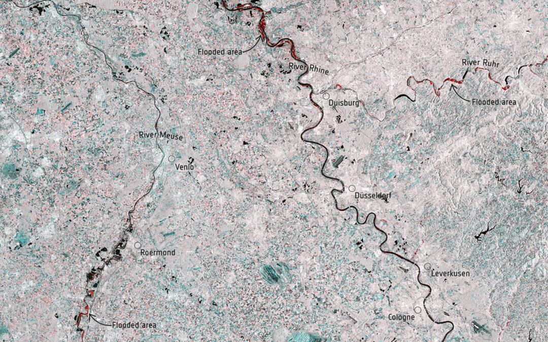 Le alluvioni in Germania e in Belgio viste dai satelliti ESA