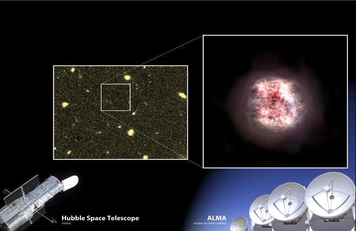 Scoperte due nuove galassie formatesi all'alba dell'universo nascoste dietro la polvere interstellare