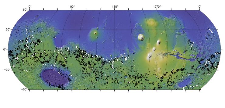 Scienza: inondazioni da crateri traboccanti hanno modellato la superficie di Marte +FOTO