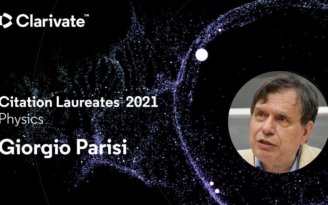 Giorgio Parisi entra nella Clarivate Citation Laureates tra i più citati al mondo