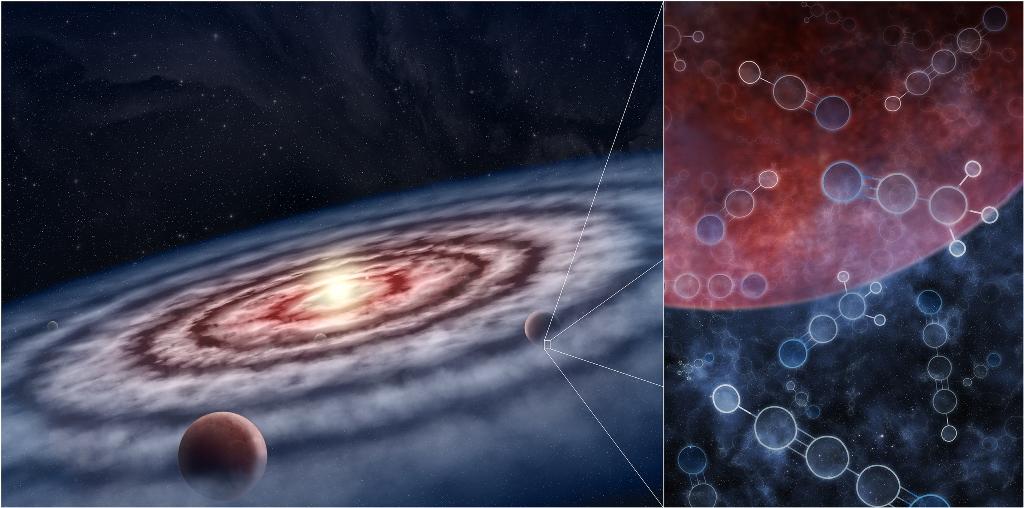 """Scienza: mappate nel dettaglio le """"zuppe biologiche"""" attorno a pianeti in formazione"""