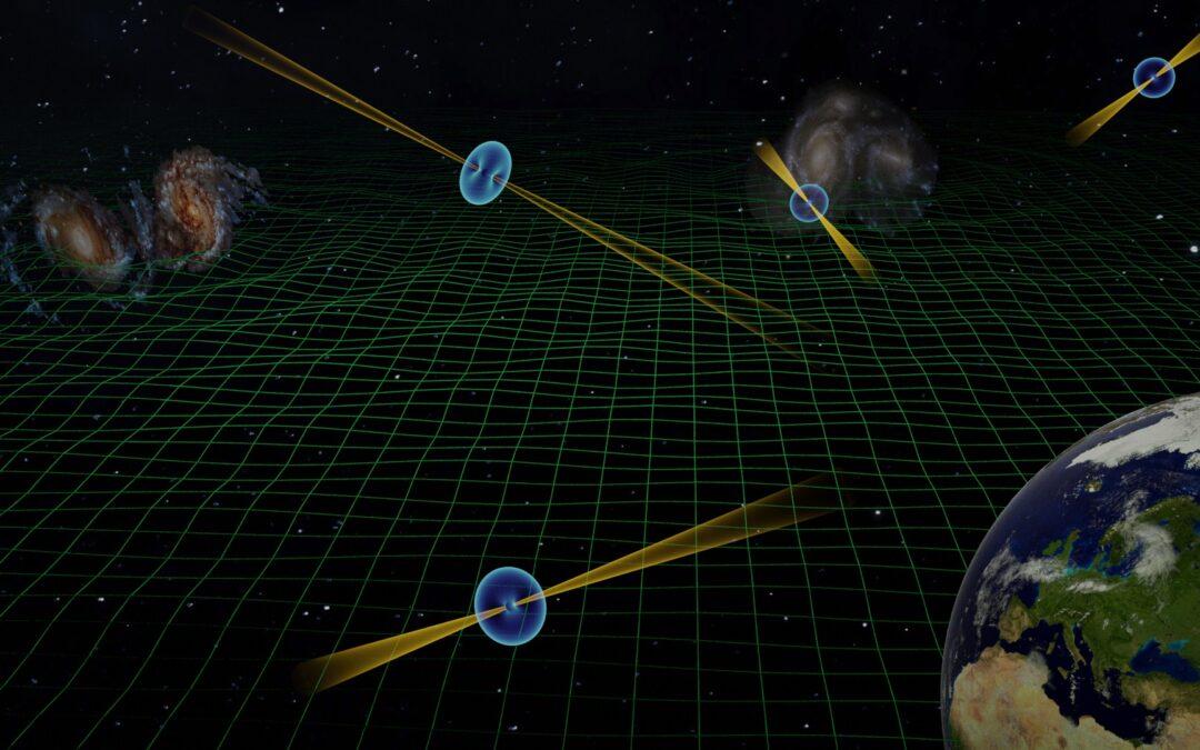 Forse osservato il fondo di onde gravitazionali