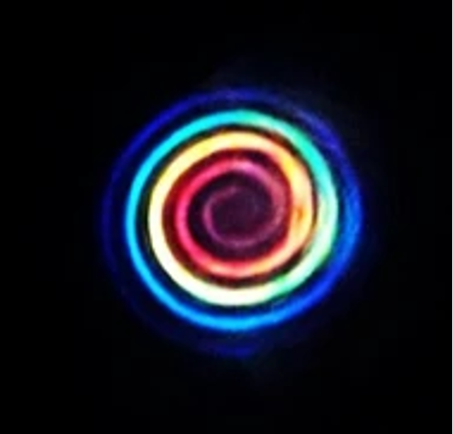 Laser arcobaleno a la Sapienza